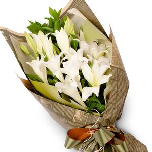 백합 꽃다발2